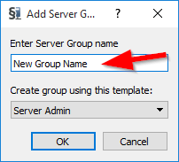 Add Group Window