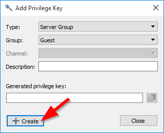 Add Privilege Key Dialog